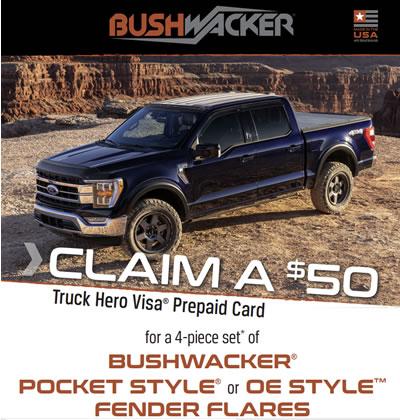 Bushwaker $50 rebate