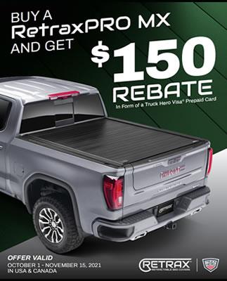 Retrax Rebate